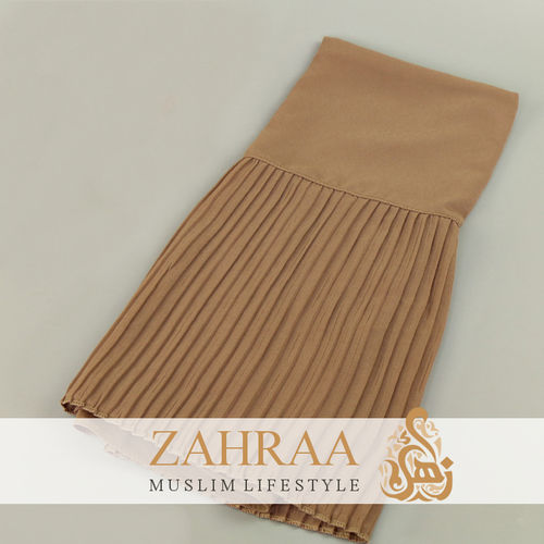 Shawl Chiffon Pleating Edge Dark Taupe