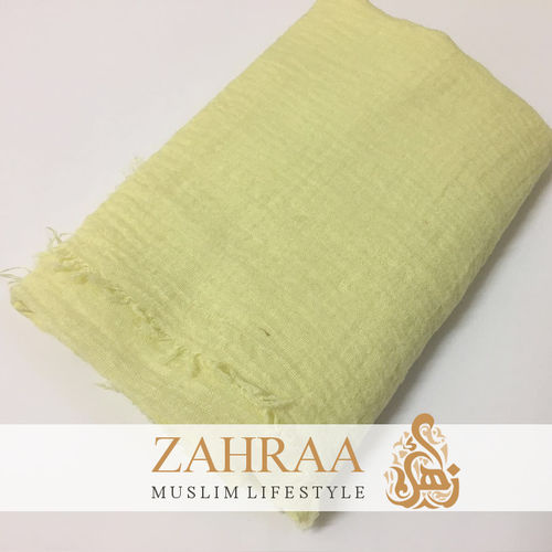 Crinkle Shawl Maxi Light Yellow