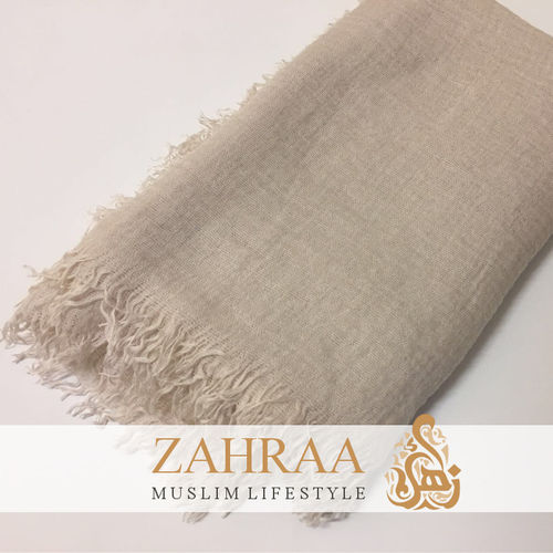 Crinkle Shawl Maxi Light Beige