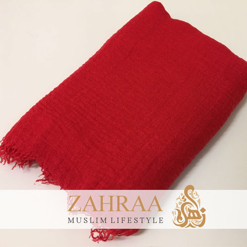 Crinkle Shawl Maxi Red