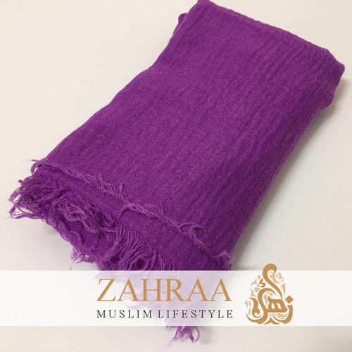 Crinkle Shawl Maxi Purple
