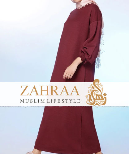 Abaya Sheyda Dark Red