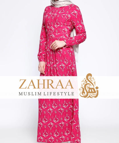 Dress Mahbasa Dark Pink