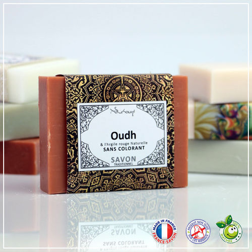 Naturseife Oudh (Agarholz & Rote Tonerde) 100g