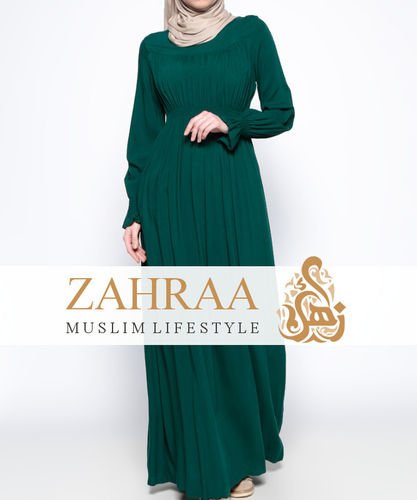 Pleating Dress Mateenah Dark Green