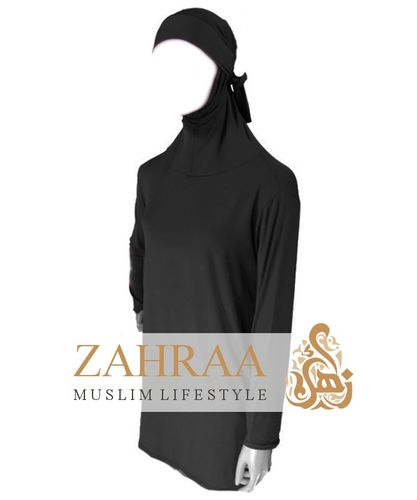 Shirt with Sewn-On-Hijab