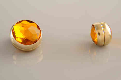 Magnet Set Crystal Amber Gold