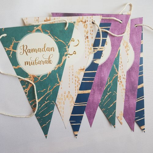 Ramadan Girlande (Deutsch/Arabisch)