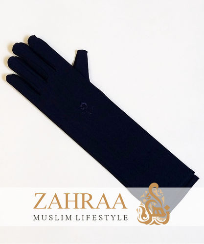 Long Gloves Dark Blue