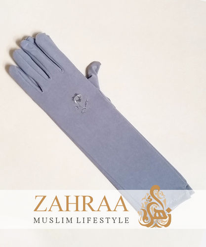 Long Gloves Light Grey