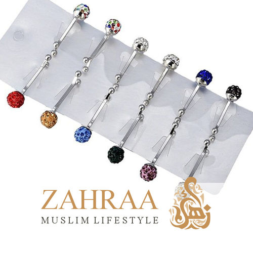 Hijab Clasp Samra 1 Piece Different Colours