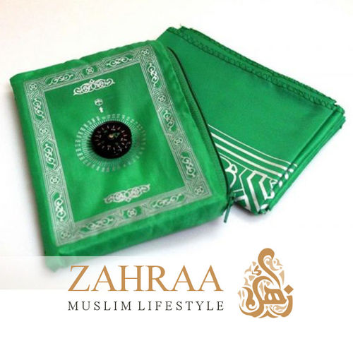 Travel Prayer Mat & Compass Green