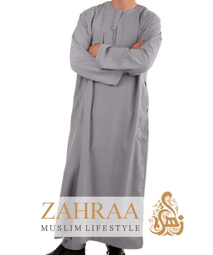 Qamis Men Longsleeve Gray