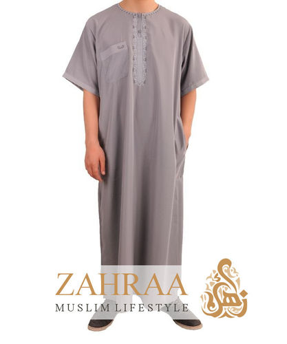 Qamis Men Shortsleeve Gray