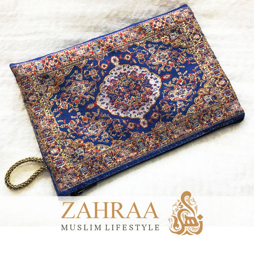 Fabric pouch Blue Red