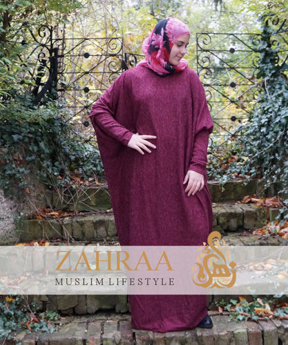 Abaya Kleid Lina Winter Burgundy