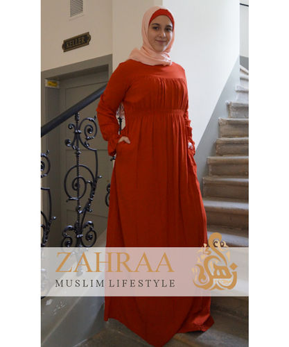 Plissee-Kleid Mateenah Orange