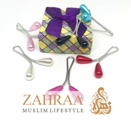 Hijab Clasp Drops 1 Piece Different Colors