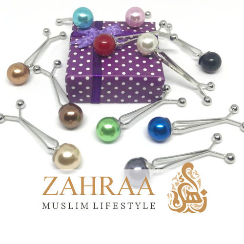 Hijab Clasp Pearl 1 Piece Different Colors