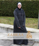 Djellaba Marokko Winter Schwarz L/XL