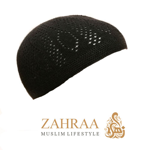 Prayer Cap Men Grey Brown