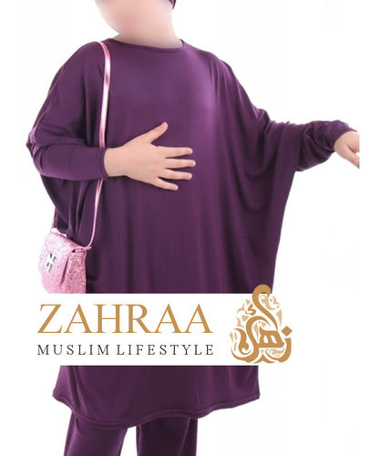 Girl Tunic Butterfly Violet