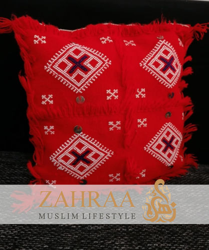 Oriental Handmade Pillowcase Small Red