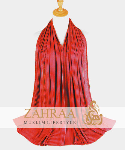 Jersey Hijab Crinkle Red