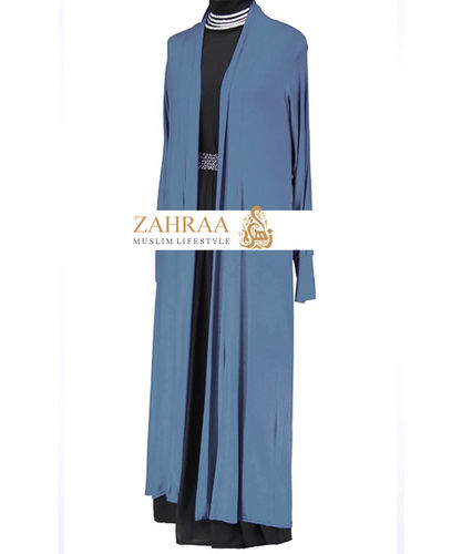 Long Cardigan Jeansblau