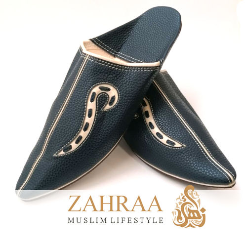 Babouche Atlas Pointed Navy Size 42