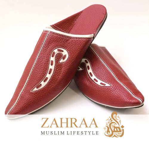 Babouche Atlas Pointed Red Size 42