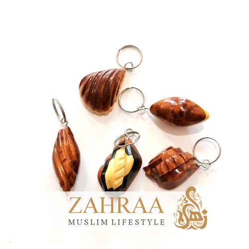 Moroccan Wood Keychains 4