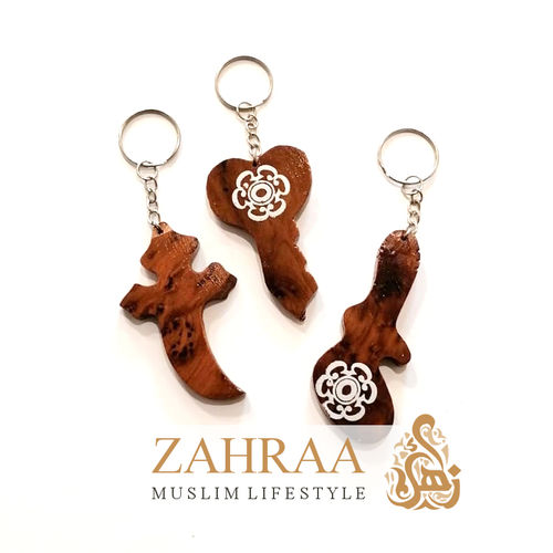 Moroccan Wood Keychains 5