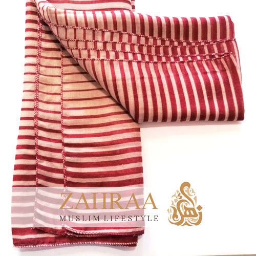 Scarf Stripes Red