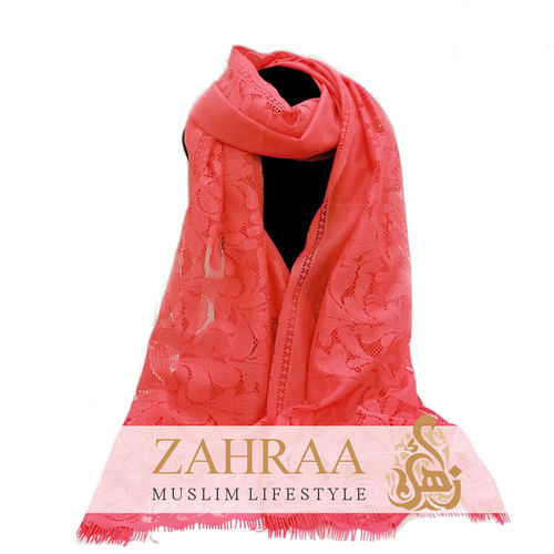 Scarf Flower Lace Coral