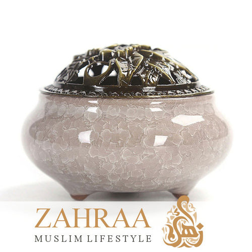 Incense Burner Ceramics Cream