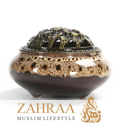Incense Burner Ceramics Brown