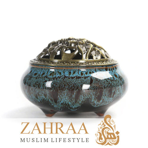 Incense Burner Ceramics Turquoise