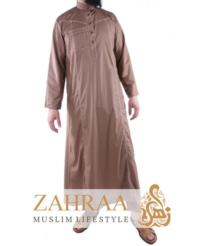 Qamis Men Longsleeve with Pants Taupe
