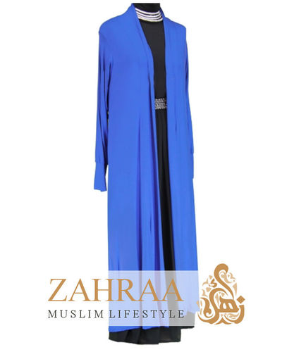 Long Cardigan Royalblau