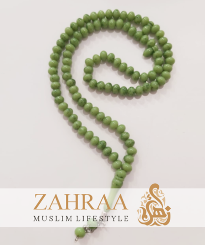 Prayer Beads 99 Pearls Green Marbled