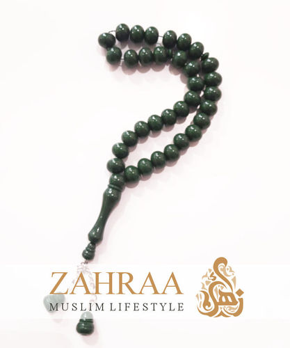Prayer Beads 33 Pearls Dark Green