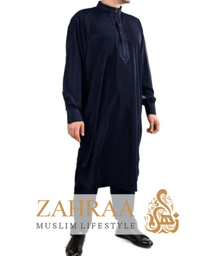 Jabador Men Longsleeve with Pants Dark Blue
