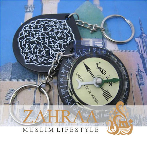 Prayer Compass Qibla Keychain