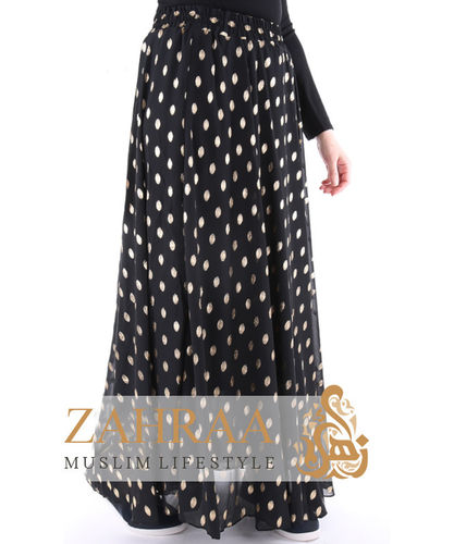 Maxi Rock Golden Dots Schwarz