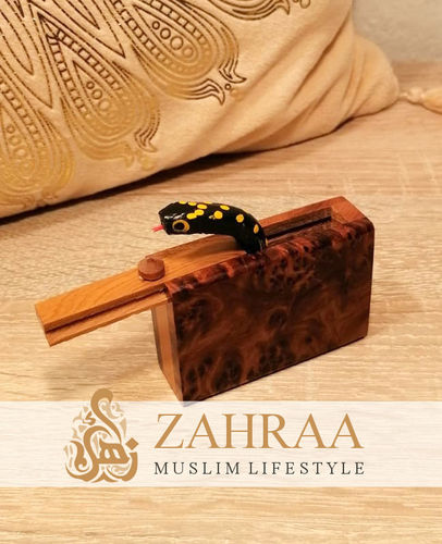 Moroccan Wooden Snake Box