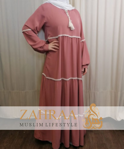 Staged Dress Nawal Dusty Rose