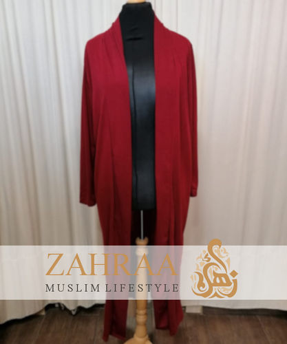 Long Cardigan Khafifa Red