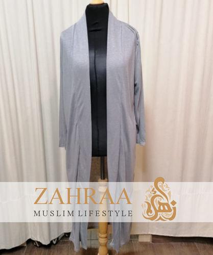 Long Cardigan Khafifa Light Grey