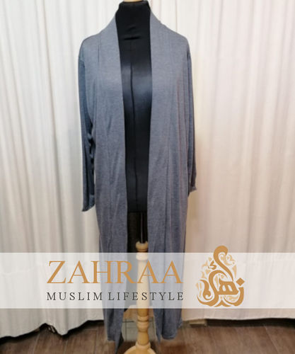 Long Cardigan Khafifa Dark Grey Mottled